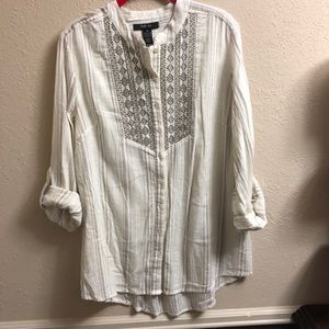 STYLE & CO Button Up Tunic